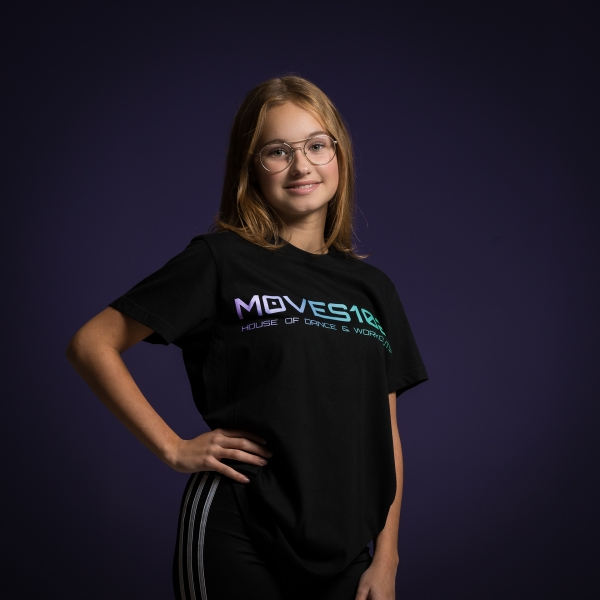 T-Shirt MOVES102 House of Dance & Workouts zwart