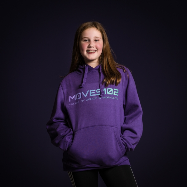MOVES102 House of dance & Workouts Hoodie paars